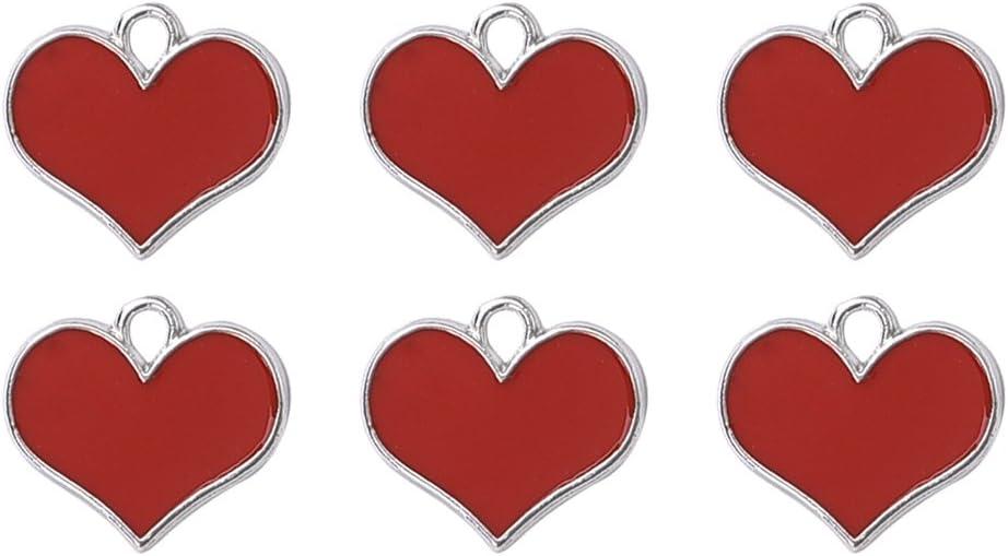Oil Drip Red Heart Craft 4 years warranty Valentine Max 78% OFF Wedding Supplies Pendan Charm