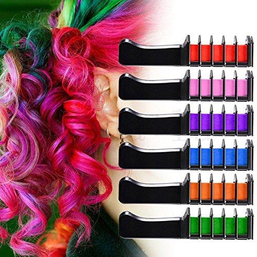 NYKKOLA - 6 peines temporales para el pelo, color crema y tinte para el cabello para niños y adultos