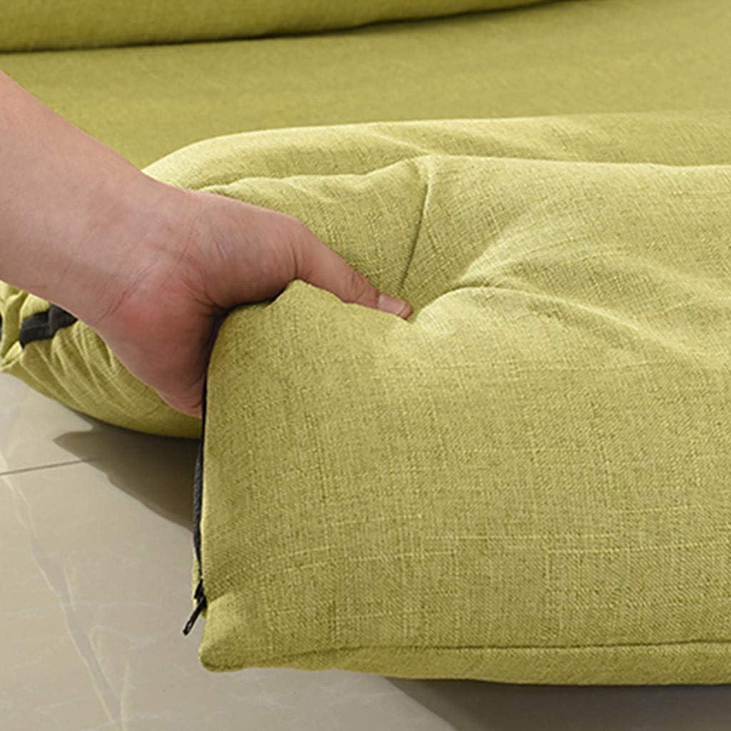 Chaise longue Chaise longue de yoga Tapis de yoga en coton et lin Canapé de style japonais (Couleur : E) A