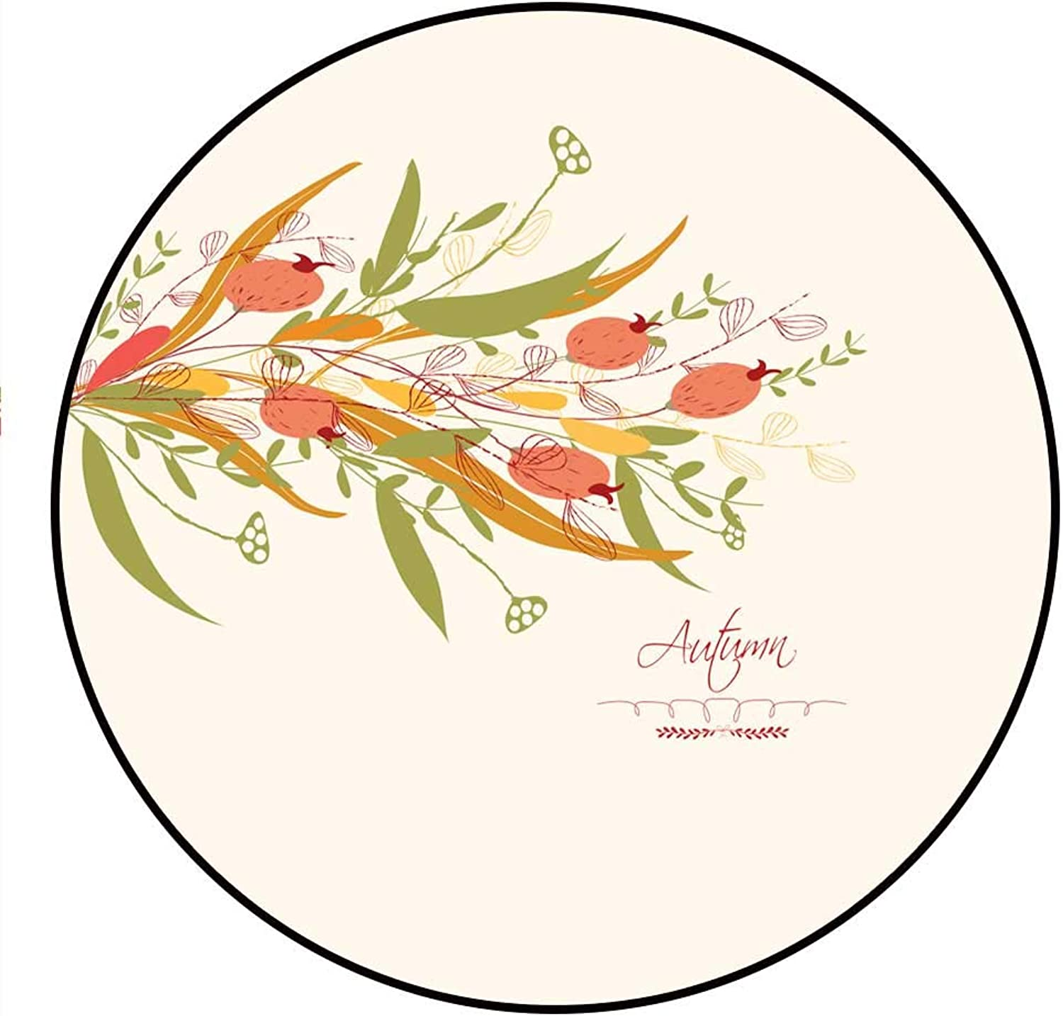 Hua Wu Chou Round Chair matround Welcome mat D4' 1.2m Background of Autumn Leaves Greeting Cards