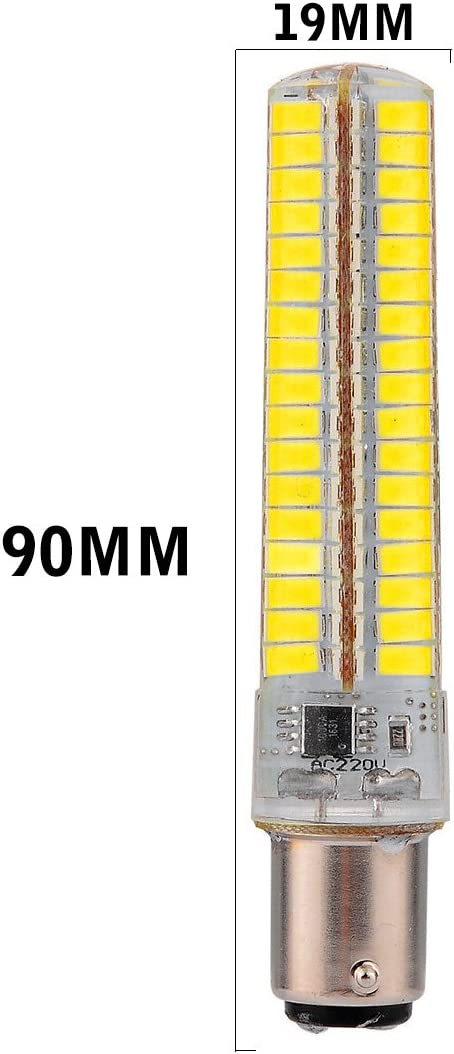 10PCS Illumination Bulbs Size : Cold White LED Lights Dimmable BA15D 7W 136 SMD 5730 600-700 LM Warm White Cool White Corn Bulbs AC 110-130V