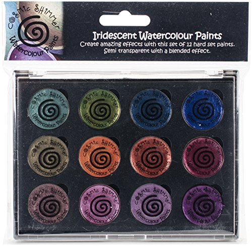 Creative Expressions Cosmic Shimmer Iridescent Watercolor Palette Set 6, Summer Garden