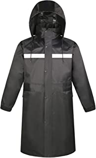 YUHANG Adult Long Raincoat Snow Wear Waterproof Jacket Breathable Design Reflective Rainwear with PU Coated for Outdoor Ca...