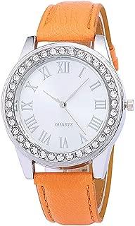 BIGBOBA Fashion Quartz Roman Diamond Belt Watch Christmas Anniversary Gifts Valentine's Day for Student Men Womens Ladies
