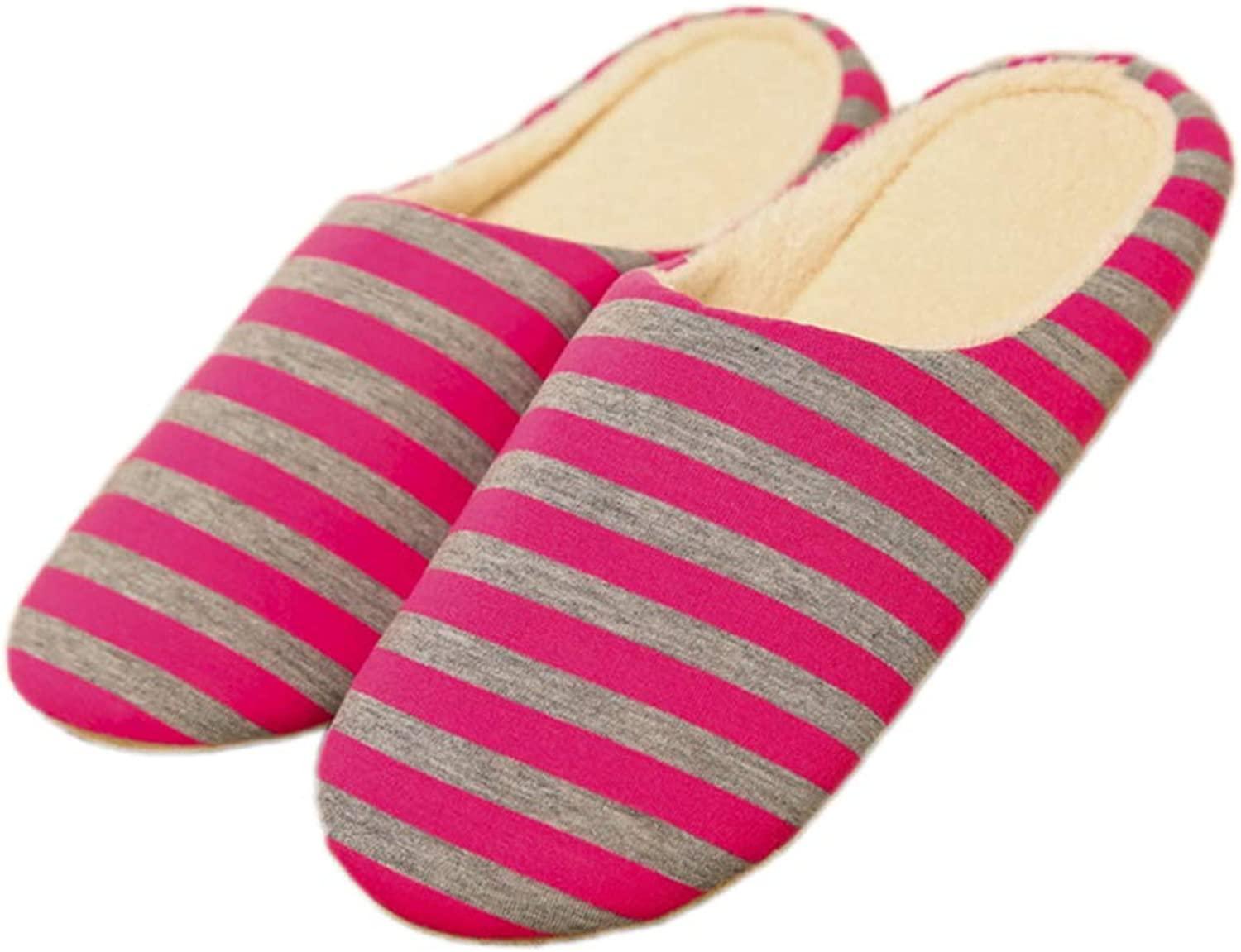 Nafanio Women House Slippers Winter Furry Arch Support Fluffy Slides Indoor Ladies Footwear Striped Couple shoes