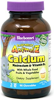 BlueBonnet Super Earth Rainforest Animalz Calcium Magnesium And Vitamin D3 Chews, Vanilla Frosting, 90 Count