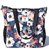 Original Floral Water Resistant Large Tote Bag Shoulder Bag for Gym Beach Travel Daily Bags Upgraded tote purse Oct, 2020