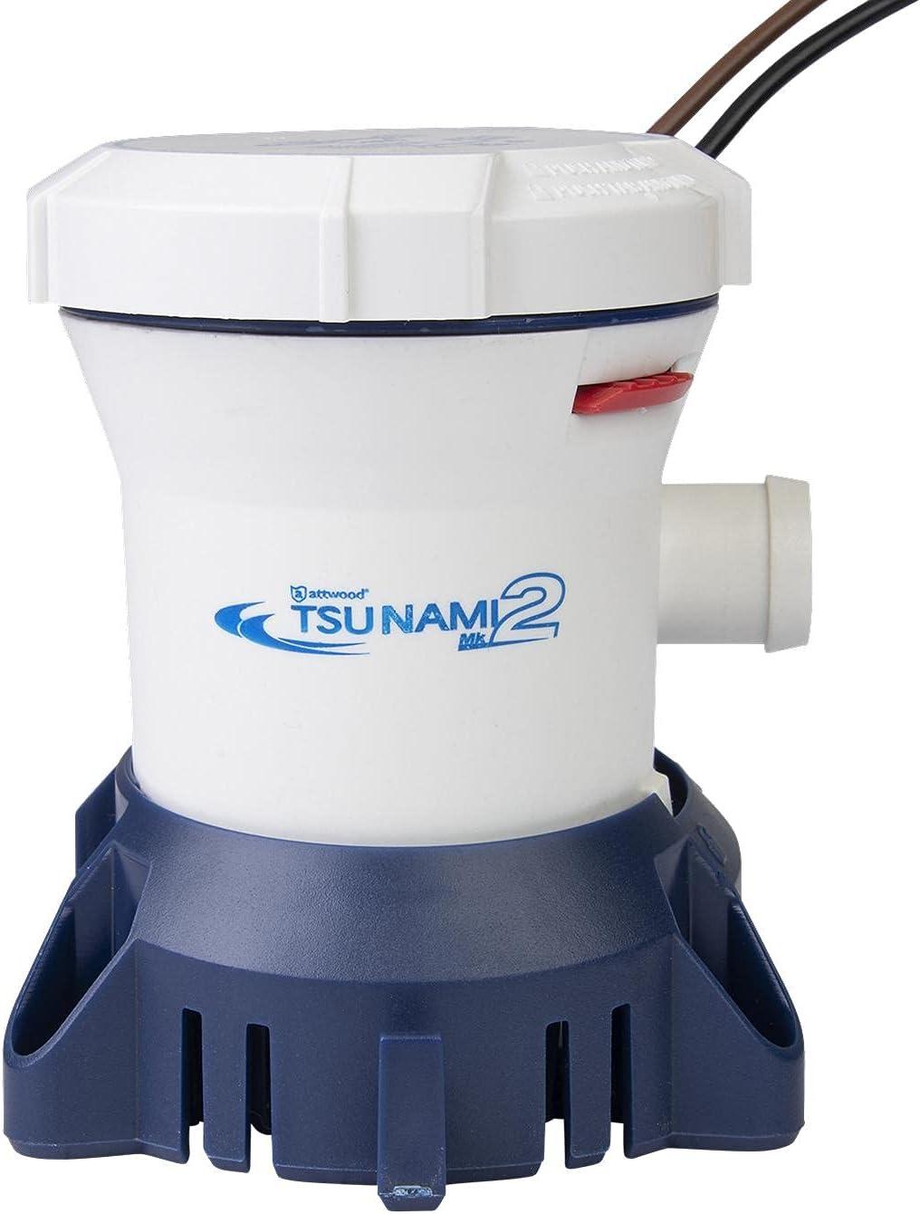 Attwood Tsunami MK2 800 GPH Ranking TOP2 12-Volt Thred 2021 autumn and winter new Bilge P Manual