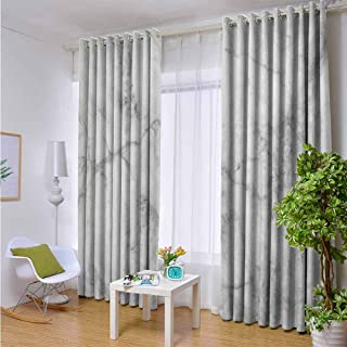 Outdoor- Free Standing Outdoor Privacy Curtain Marble,Fractured Lines Stained Grunge Surface Effects Ceramic Style Background Artful Motif,Grey Dust,W96