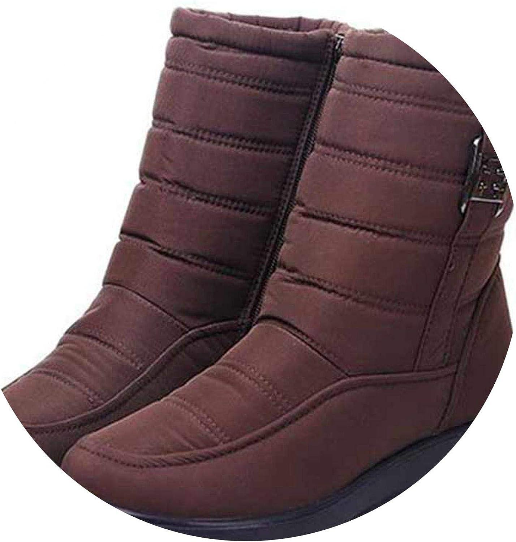 Summer-lavender Women Winter Boots Plus Fur Keep Warm Non Slip Women Boots Waterproof Casual Women shoes