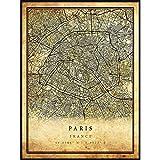 Paris map Vintage Style Poster Print   Old City Artwork Prints   Antique Style Home Decor   France Wall Art Gift   Antique map Art 8.5x11