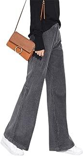 Women's Vintage Flared Corduroy Pants Boot Cut Trousers