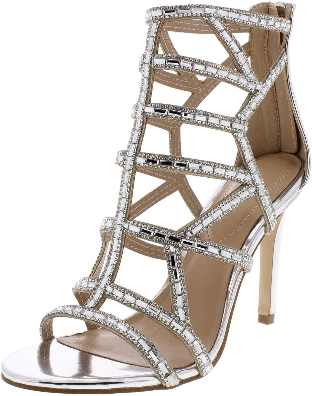 Aldo Womens Norta Metallic Patent Evening Sandals