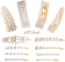 Girls Glitter Flower Folked Clip Grip Slide Pearl Bead Centre Hair Accessories
