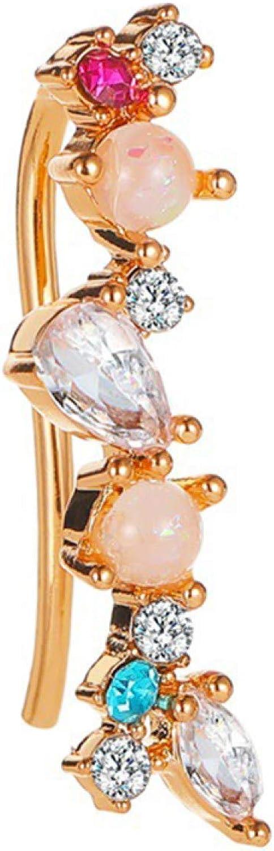 Fashion Creative Elegant Earring Stud for Women Girl charming Jewelry 1Pc Women Elegant Cubic Zirconia Faux Pearl Shining Ear Cuff Earrings Jewelry