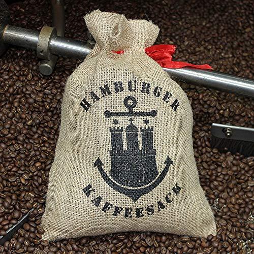 Docklands-Coffee Hamburger Kaffeesack groß | Jutesack | Geschenkesack | Ideal zum Verschenken | für bis zu 1 Kg Röstkaffee | Zugband | Edel