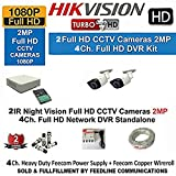 Hikvision 2MP DS-7104HQHI-K1 4CH DVR 1Pcs, Full HD 2MP DS-2CE1ADOT-IR Bullet OR DOME