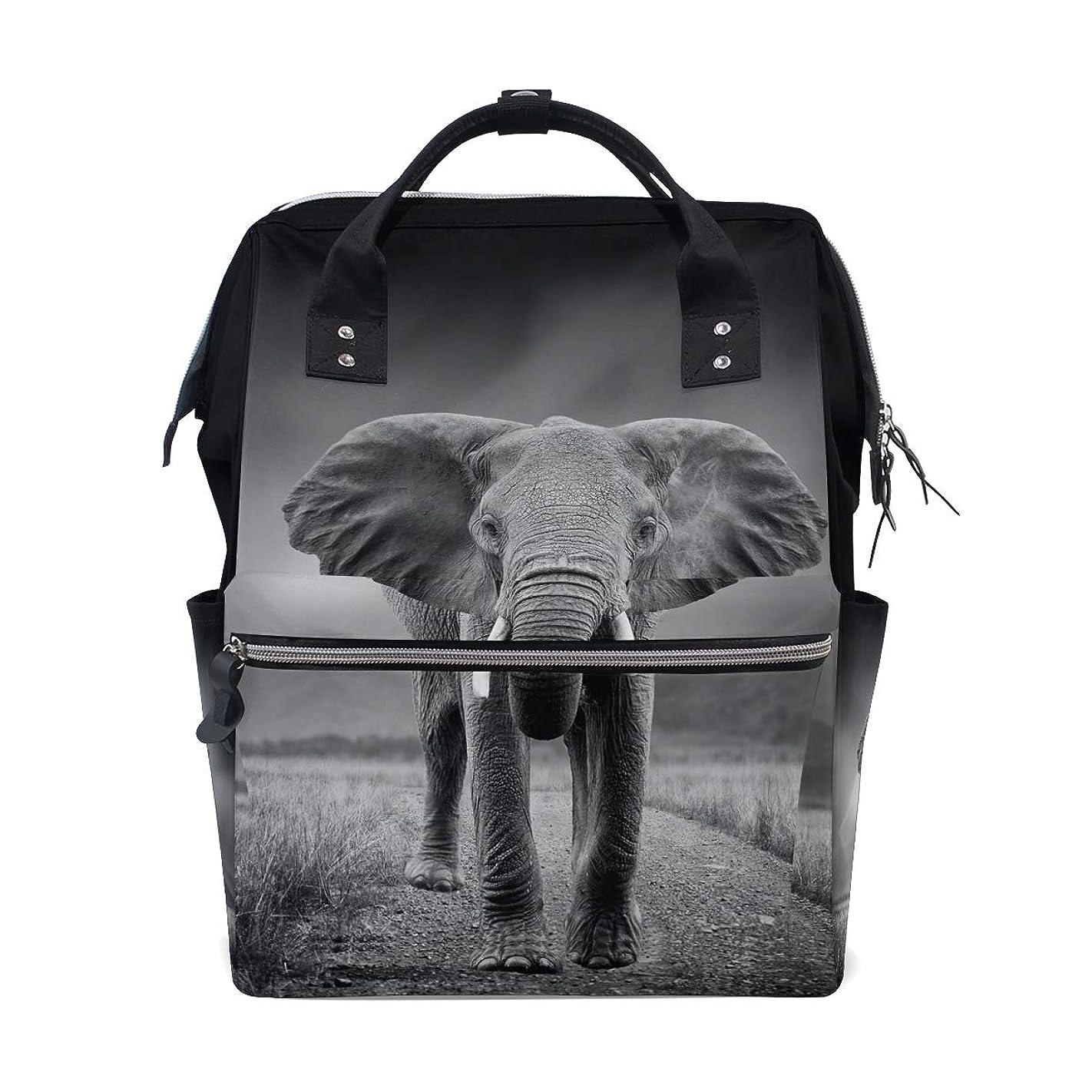 Black And Grey African Elephant School Backpack Large Capacity Mummy Bags Laptop Handbag Casual Travel Rucksack Satchel For Women Men Adult Teen Children y33934614565