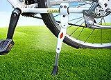 MINGZE Pata de Cabra para Bicicleta, Bicicleta de montaña de trípode de Aluminio Ajustable en Altura Bicicleta de Carretera 22/24/26 Pulgadas / 700C (Blanco)