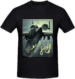 MEGANHO Custom Shockwave A-10 Warthog Men T Shirt Cotton Round Collar