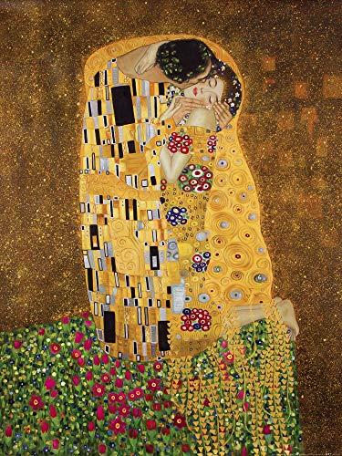 1art1 Gustav Klimt - Der Kuß II Poster Kunstdruck 80 x 60 cm