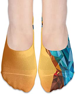 Geometric Bird Animal Wildlife Design Artistic Customized Does Not Show Low-cut Invisible Thin Socks For Matching Women's Shoes Of Various Styles