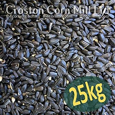 25kg 'Wheatsheaf' Black Sunflower Seeds for Wild Birds (2x12.5kg bags) by Croston Corn Mill