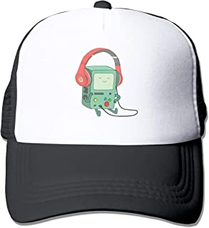 Adventure Time BMO Trucker Hat Snap Back Sun Mesh Baseball Cap Hip Hop Flat Hats for Men and Women