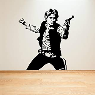 pegatinas de pared Star Wars Han Solo Decal Sticker Decalcomania della stanza Sci Fi Movie