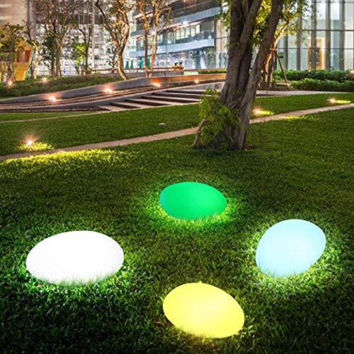 W.Z.H.H.H Solarleuchten Glow Cobble Steinform wasserdichte Solarlichter Farben-ändernde Lichter mit Fernbedienung for Outdoor-Garten Aussenleuchten