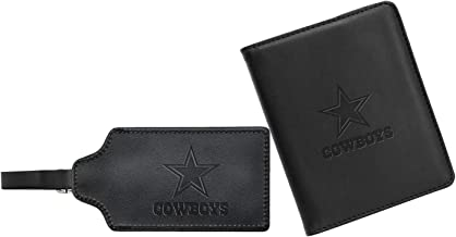 NFL Leather Passport Cover & ID Luggage Tag Set