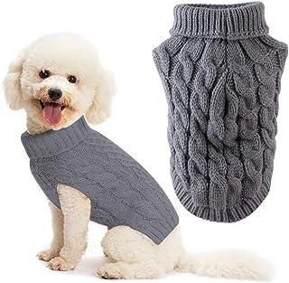 SUSSURRO Pull /à manches longues et col rond pour femme Motif pattes de chien