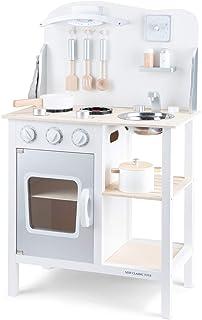 New Classic Toys- Cuisine-Bon Appétit, 11053, Blanche/Argent