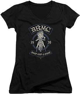 Trevco BB821-JV-3 Betty Boop B.B.M.C.-Junior V-Neck T-Shirt, Black - Large