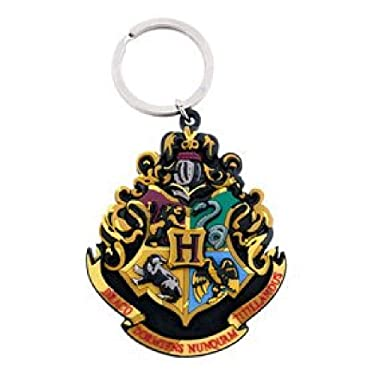 Universal Studios Florida Wizarding World of Harry Potter Theme Park Exclusive Keychain Hogwarts Crest Rubber Key Ring Harry Potter Wand & Crest NEW