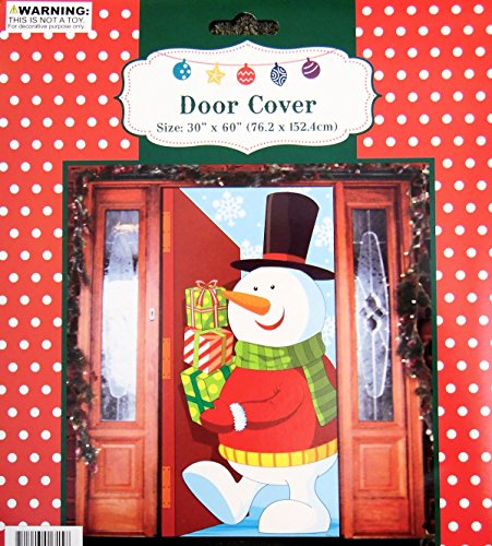 Regent Snowman with Gifts Door Cover Holiday Decoration Plastic 30x60 Inches