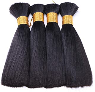 Hairpieces Hair Extension Fashian Hair Extensions Weave Straight Bundles Long Hair Real Human Hair Weft Bundles Natural Color Hair Weave (Color : Black, Size : 8 inch/28cm)