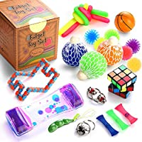 Sensory Fidget Toys Set, 25 Pcs., Stress Relief and Anti-Anxiety Tools Bundle for Kids and Adults, Marble and Mesh, Pack...