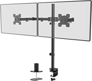 WALI Extra Tall Dual LCD Monitor Fully Adjustable Desk Mount Fits 2 Screens up to 27 inch, 22 lbs. Weight Capacity per Arm...
