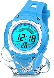 Orologio Digitale Per Bambini Ragazze-7 Colori Luce Sport all'aria Aperta Orologio da Polso Multifunzione Impermeabile con...