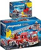 Playmobil® City Action Set en 2 Parties 9463 9468 Conducteur véhicule Pompier + Pompiers avec Suppression Pompe