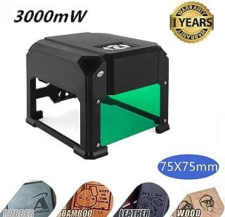 Laser Engraving Machine,Titoe 3000mW Mini Desktop Laser Printer Wood Engraver Machine Working Area 75X75mm for DIY Logo Marking …