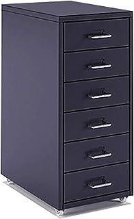 QSJY Meubles de rangements à tiroirs Classeur dossiers Suspendus 6 tiroirs, tiroirs à roulettes Dossier, dépôt Tiroirs en ...