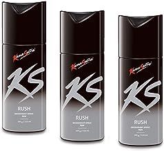 KamaSutra Deodorant Body Spray For Men, 150 ml - (Rush-Rush-Rush) Pack of 3