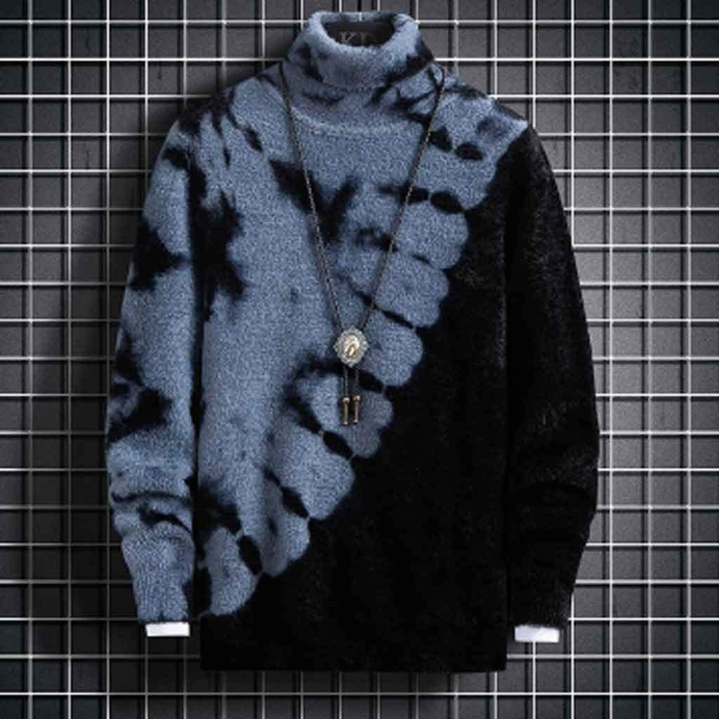 GFDFD Turtleneck Sweater Men Clothing New Fall Winter Knitwear Thick Pullover Men Fashion High Neck Soft Warm Pull Homme (Color : C, Size : XL code)