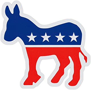 Bumper Sticker Decal - Democrat Party Donkey - Liberal, Democratic (Die-Cut)