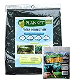 Planket Plant Frost Protection Cover Kit, 10 ft x 20 ft Planket + 14 Landscape Stakes...