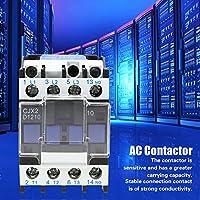 コンタクタ、CJX2-1210高感度産業用電気ACコンタクタ220V 12A電子コンポーネント品揃えキットACコンタクタ
