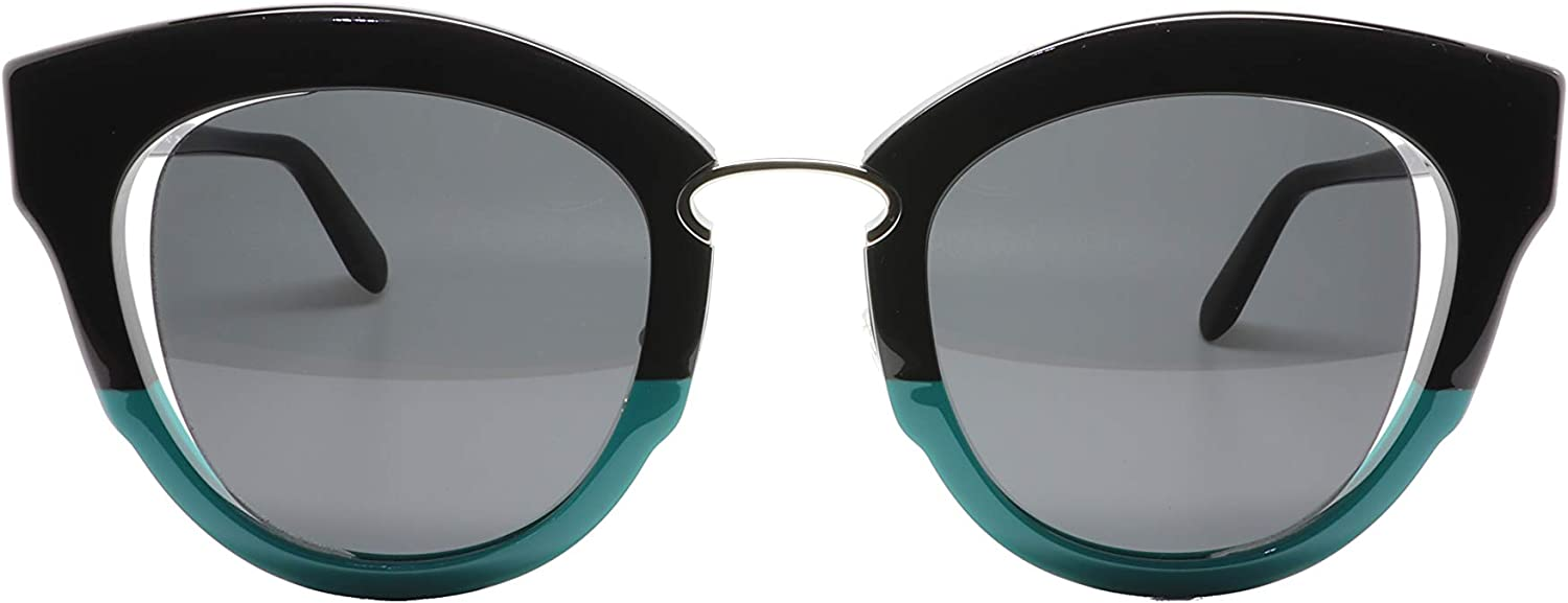 Salvatore Ferragamo Women's Cat Eye Sunglasses, Black Jade Vine