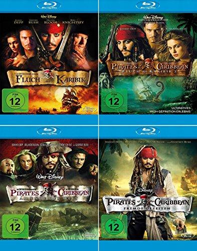 Fluch der Karibik 1 - 4 (Pirates of the Caribbean) Collection | (4-Blu-ray) Kein Box-Set